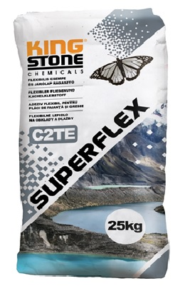 SUPERFLEX C2TE, FLEXIBLE ADHESIVE FOR WALL AND FLOOR TILES